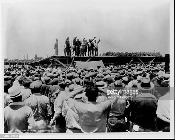 Members of the Bonus Expeditionary Force a group of 15000 veterans of WW I who marched on Washington to demand full payment of their war bonus during...
