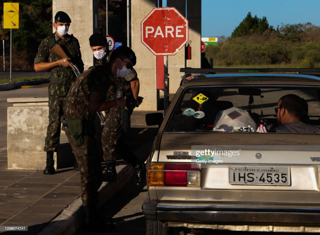 Border Between Brazil and Uruguay has been Closed Due to the Coronavirus (COVID -19) Pandemic : News Photo