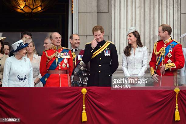 Members of the British royal family Queen Elizabeth II, Sophie, Countess of Wessex, Prince Philip, Duke of Edinburgh, Prince Edward, Earl of Wessex,...
