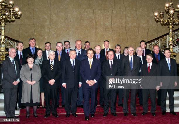 Members of the BritishIrish Council after the historic inaugral meeting of the Council at Lancaster House From left to right front row Jim Wallace...