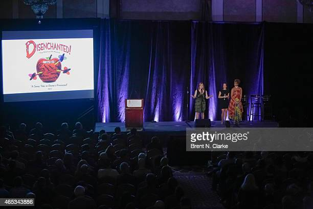 Members of the Broadway Musical Disenchanted Jen Bechler Erin LeighPeck and SoaraJoye Ross perform on stage during day 1 of the International...