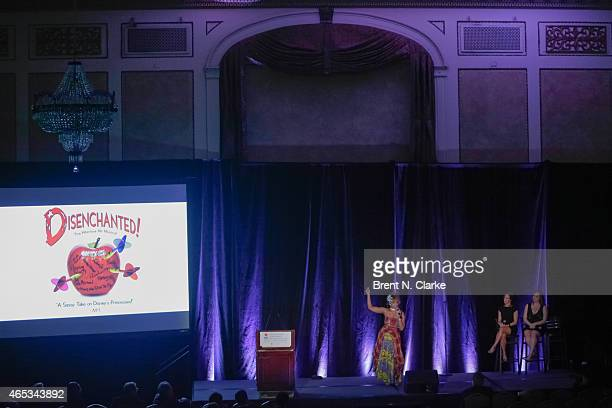 Members of the Broadway Musical Disenchanted SoaraJoye Ross Erin LeighPeck and Jen Bechler perform on stage during day 1 of the International...
