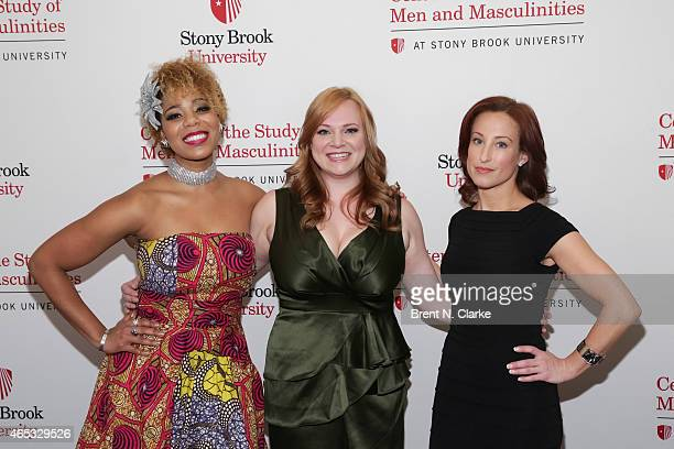 Members of the Broadway Musical Disenchanted SoaraJoye Ross Jen Bechler and Erin LeighPeck arrive for day 1 of the International Conference On...