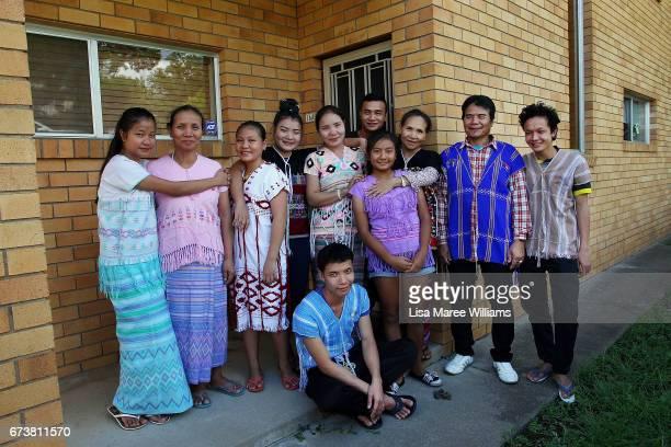 Members of the Burmese Karenni community Pah Lay Moon Kre Da Paw Pa Doh Htoo Wah Doh Tha Gay Eh Doh K' Lu Moon Pee Tee Yaw Doe Heh Doe Hsur Ku Moon...