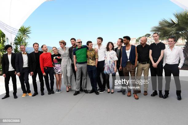 Members of the cast attend '120 Beats Per Minute ' photocall during the 70th annual Cannes Film Festival at Palais des Festivals on May 20 2017 in...