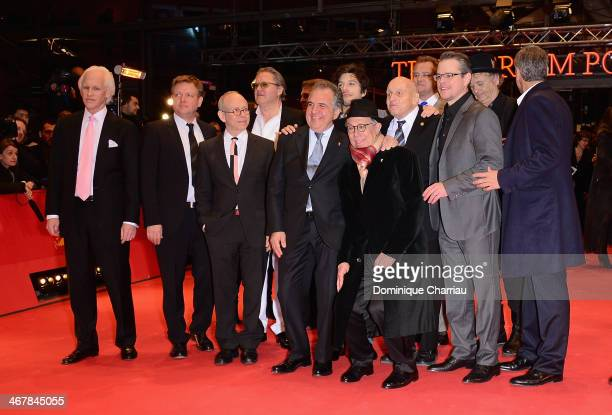 Members of the cast attend 'The Monuments Men' photocall during 64th Berlinale International Film Festival at Grand Hyatt Hotel on February 8 2014 in...