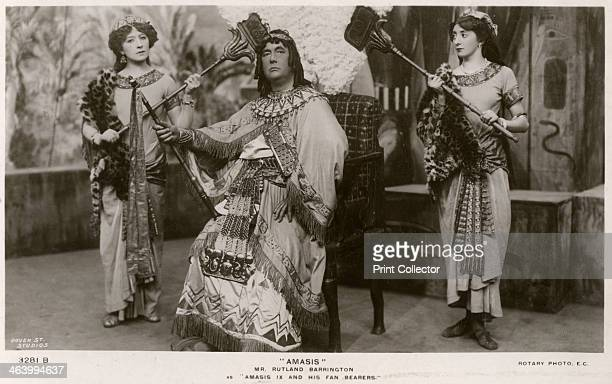 Members of the cast of Amasis c1906 Rutland Barrington as Amasis IX and his fan bearers Amasis is a musical comedy by Philip Michael Faraday and...