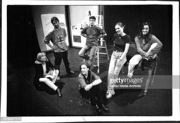 Members of the cast of Hating Alison Ashley at the Zenith Theatre in Chatswood after their performanceLeft to Right are Sara Grenfell Caroline...