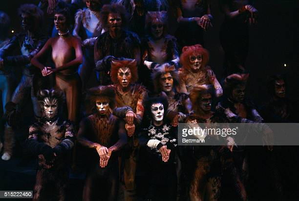 Members of the cast of the Andrew Lloyd Webber Broadway musical Cats perform at Tony Awards