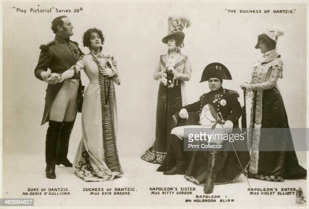 Members of the cast of The Duchess of Dantzic c1903 Denis O'Sullivan as the Duke of Dantzic Evie Greene as the Duchess of Dantzic Kitty Gordon as...