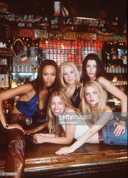 Members Of The Cast Of The New Movie Coyote Ugly Which Is To Open August Clockwise From Top Left Tyra Banks Maria Bello Bridget Moynahan Izabella...