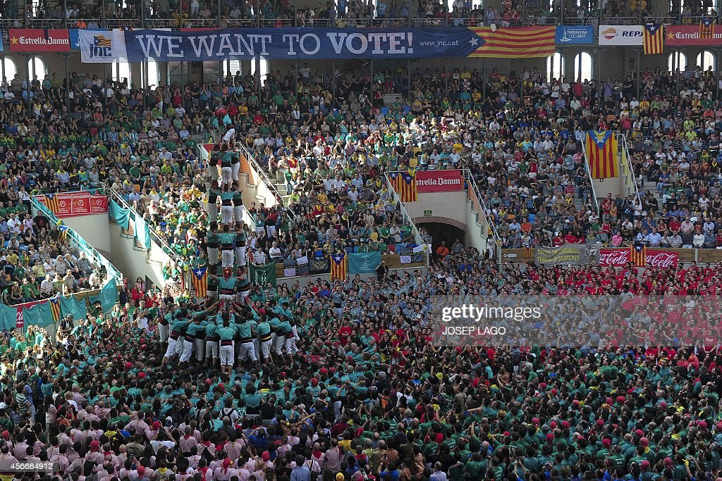 SPAIN-CATALONIA-HUMAN-TOWERS : News Photo