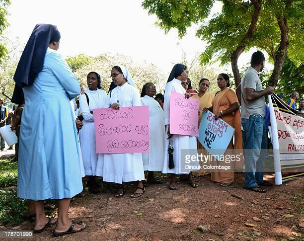 Members of the Catholic clergy took to the streets of Colombo in response to the growing racism.