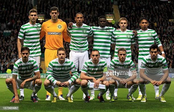 Members of the Celtic football team Charlie Mulgrew Fraser Forster Kelvin Wilson Victor Wamyama James Forrest and Emilio Izaguirre Mikael Lustig Kris...