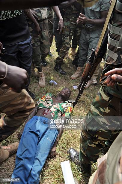 Members of the Central African Armed Forces lynch to death a man suspected of being a former Seleka rebel on February 5 in Bangui The impoverished...