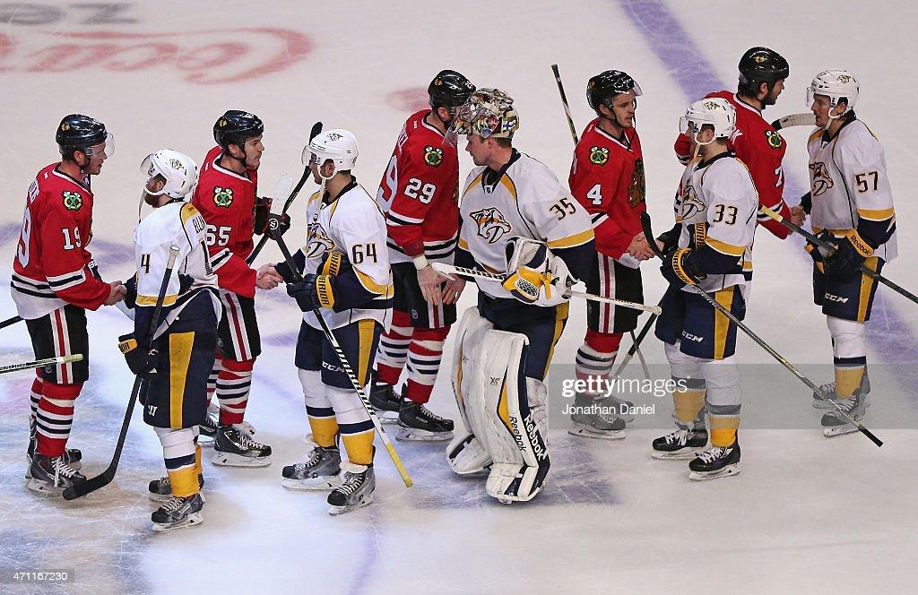 Nashville Predators v Chicago Blackhawks - Game Six : News Photo