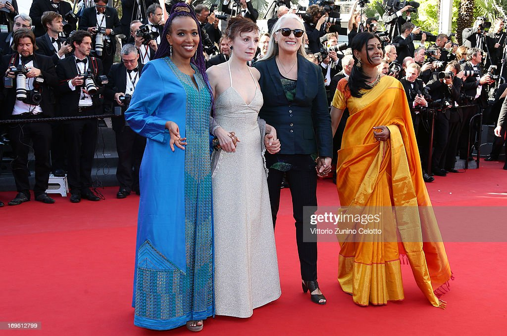 Members of the Cinefondation and short film jury director Maji-da Abdi, actress Nicoletta Braschi, director and jury president Jane Campion and actress Nandita Das attends the 'Zulu' Premiere and Closing Ceremony during the 66th Annual Cannes Film Festival at the Palais des Festivals on May 26, 2013 in Cannes, France.