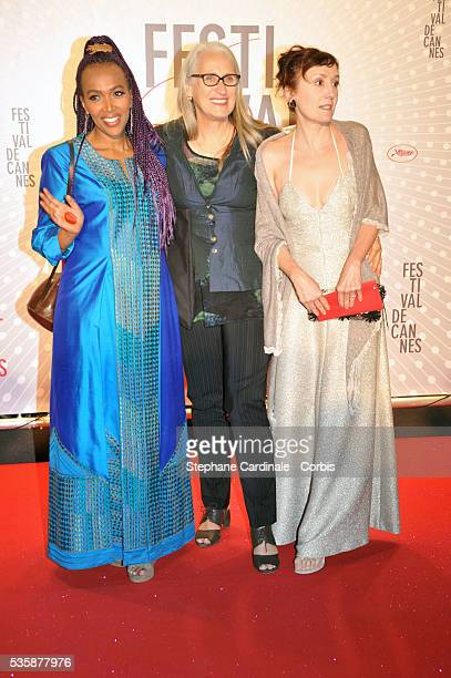 Members of the Cinefondation and short film jury director Majida Abdi director Jane Campion and actress Nicoletta Braschi attend the 'Palme D'Or...