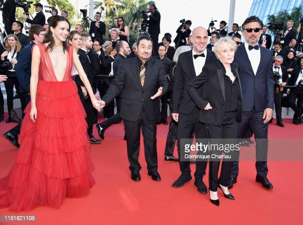Members of the Cinefondation and short films juries Stacy Martin, Panos H. Koutras, Eran Kolirin, Claire Denis and Catalin Mitulescu attend the...