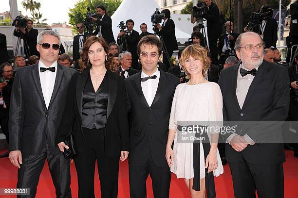 Members of the Cinefoundation Jury Marc RechaEmmanuelle Devos President of the Jury Atom Egoyan and Dinara Droukarova Carlos Diegues attend the...