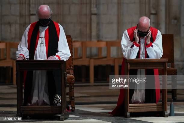 Members of the clergy follow the service as the Venerable Julie Conalty, currently Archdeacon of Tonbridge and the Reverend Canon Sam Corley,...