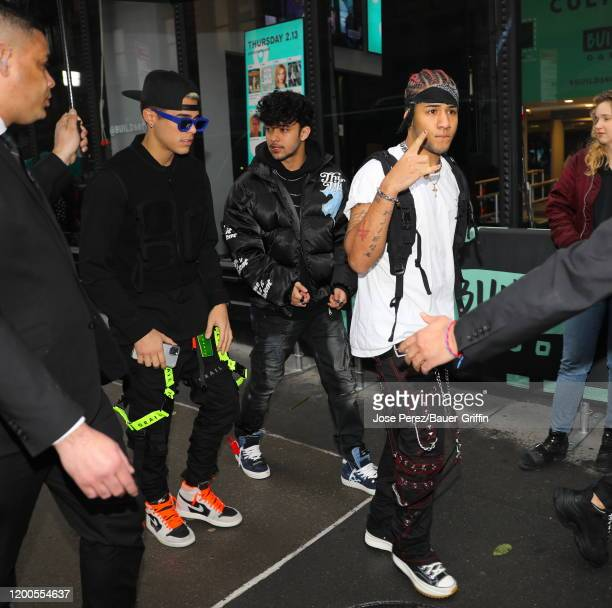 Members of the Cnco boy band are seen at the Build building on February 13 2020 in New York City