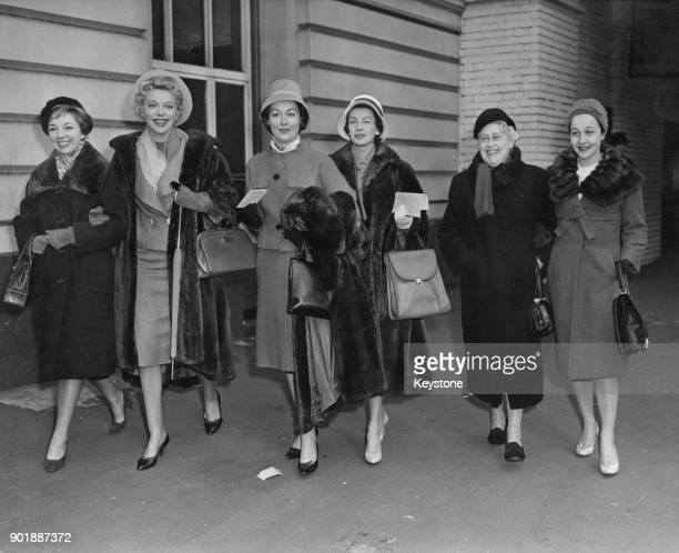 Members of the ComédieFrançaise arrive at Victoria Station in London for a three week season at the Prince's Theatre opening with a performance in...
