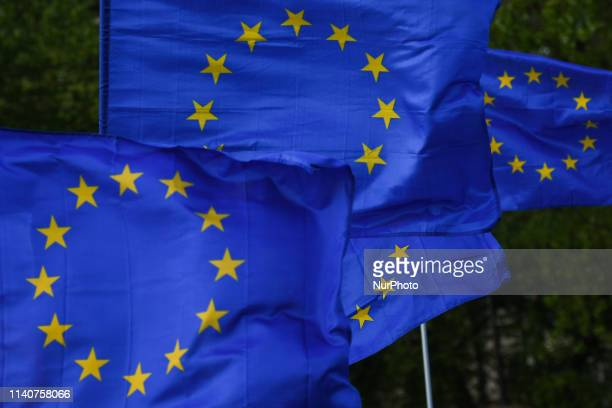 Members of the Committee for the Defence of Democracy and member of the Polish opposition parties during a 'European Walk' on the occasion of...