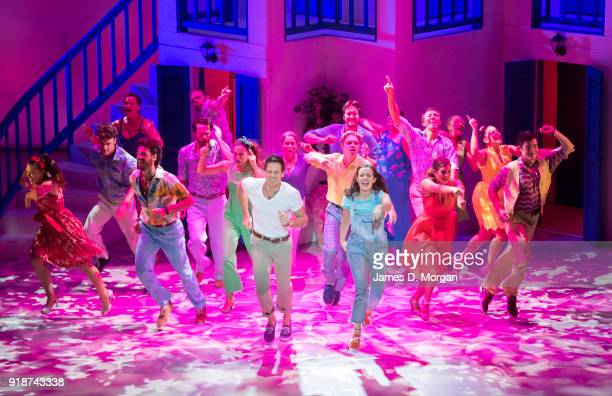 Members of the company of the Australian touring production of Mamma Mia during a media call at the Capitol Theatre on Feb 14 2018 in Sydney...