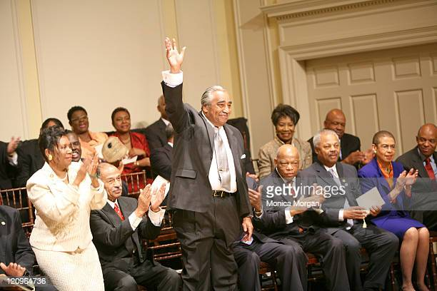 Members of The Congressional Black Caucus Applauding Rep Charles RangelDNY