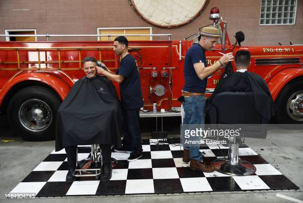 Members of the Culver City Fire Department attend the MOVEMBER Kickoff Event with Tarek El Moussa and Jason O'Mara at the Culver City Fire Department...