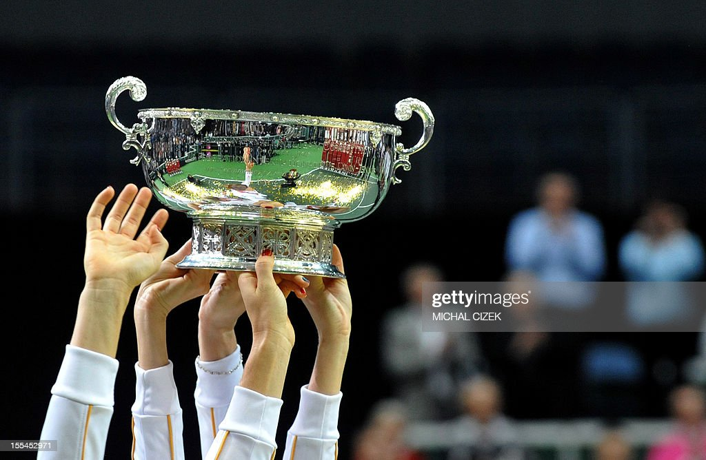TENNIS-FEDCUP-CZE-SRB : News Photo