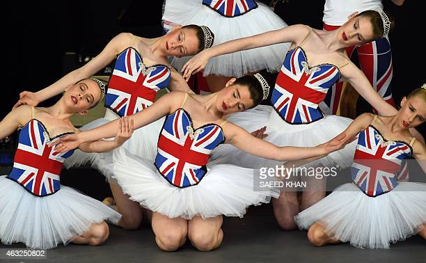 Members of the Dance School of Distinction representing the British Ballet Organisation perform during the opening ceremony ahead of the ICC 2015...