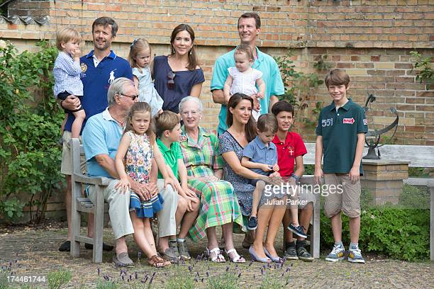 Members of The Danish Royal Family attend the annual Summer photocall for the Royal Danish family at Grasten Castle on July 26, 2013 in Grasten,...