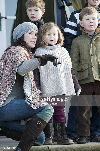 Members Of The Danish Royal Family Watch The Annual Hubertus Hunt Race At Dyrehaven Near CopenhagenCrown Princess Mary With Princess Isabella And...
