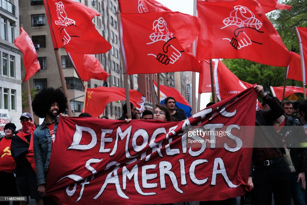 Activists March To Trump Tower On International Workers' Day Calling For Immigrants' Rights : News Photo