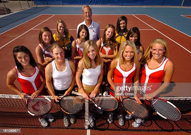COJUNE 2ND 2006 Members of The Denver Post 2006 AllColorado girls tennis team at Cherry Creek High School courts front row left to right Rachel Loeb...