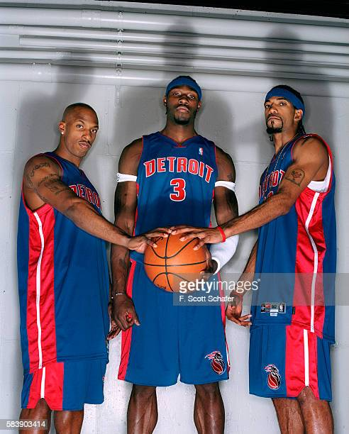 Chauncey Billups Ben Wallace and Richard Hamilton are photographed for ESPN The Magazine in 2004 PUBLISHED IMAGE