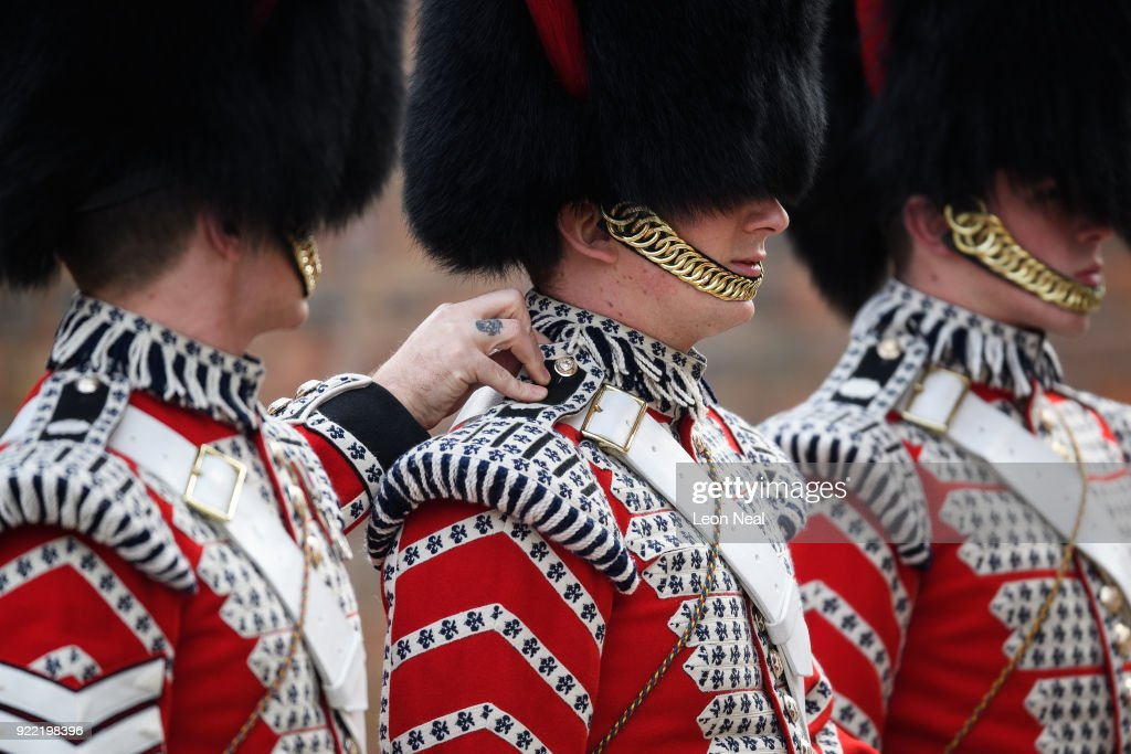 Major General's Inspection Of The 1st Battalion Coldstream Guards : News Photo