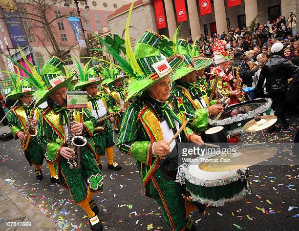 Members of the Durning String Band perform during the 2011 Mummers Parade January 1 2011 in Philadelphia Pennsylvania Thousands of people enjoyed the...