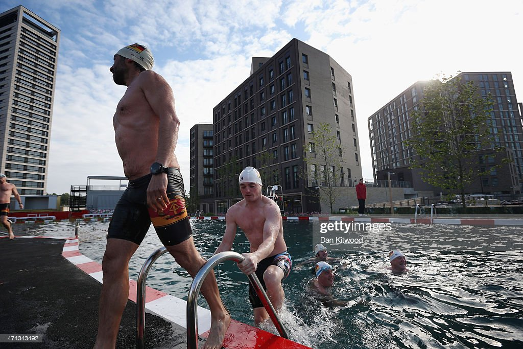 Kings Cross Outdoor Swimming Pond Opens To The Public : News Photo