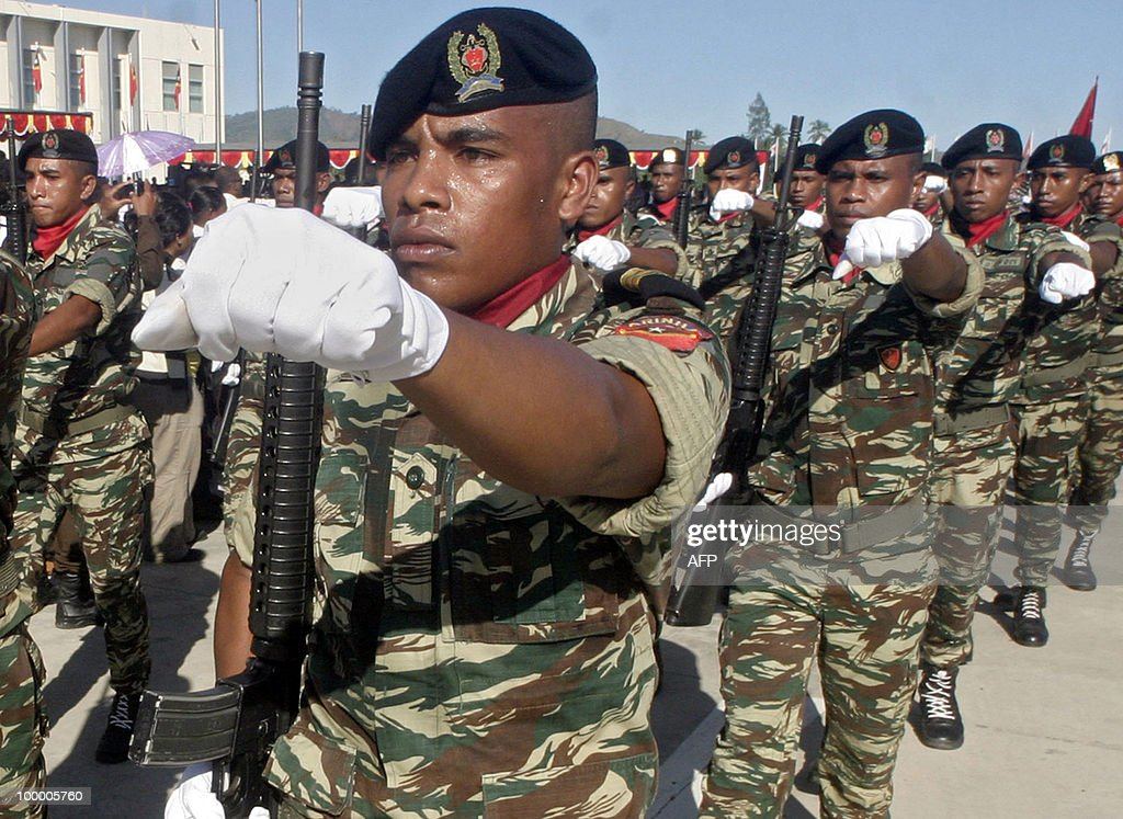 Members of the East Timorese security fo