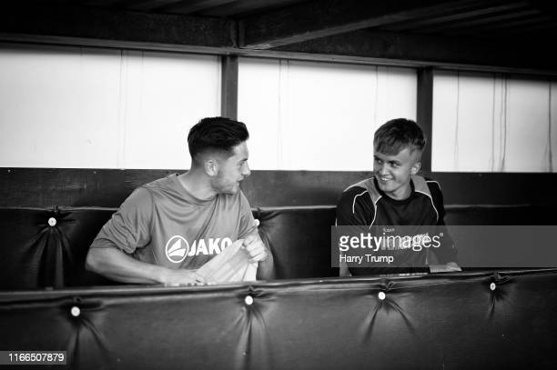 Members of the Eastleigh side look on from the dugouts during the Vanarama National League match between Yeovil Town and Eastleigh FC at Huish Park...