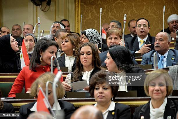 Members of the Egypt parliament attend Egypt's new parliament meeting during their inaugural session in the capital Cairo on January 10 2016