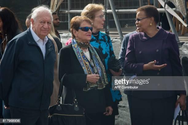 Members of The Elders group former president of Chile Ricardo Lagos former Prime Minister of Norway Gro Harlem Brundtland former Irish President Mary...