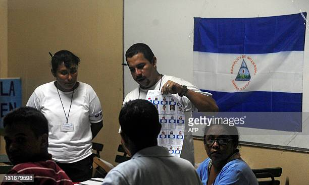 Members of the electoral council count the votes after Nicaragua's presidential election on November 6 2011 Polls opened early Sunday in Nicaragua in...