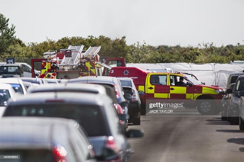 BRITAIN-AVIATION-ACCIDENT : News Photo