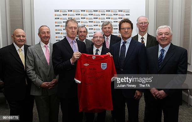 Members of the England 1966 Squad, George Cohen, Gerry Byrne, Sir Geoff Hurst, Gordon Banks, Nobby Stiles, Martin Peters, Jack Charlton and Ian...
