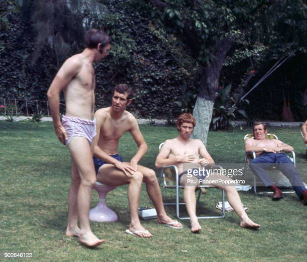 Members of the England football team relaxing at the Hilton Hotel in Guadalajara during the 1970 FIFA World Cup in Mexico 30th May 1970 Identified...