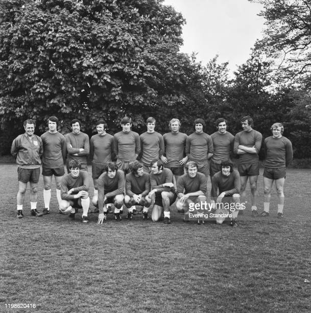 Members of the England national football team squad posed together during a training session prior to their UEFA European Championship group 3 match...